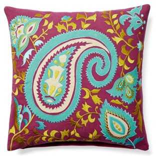 Arcadia Embroidered Pillow - One Kings Lane