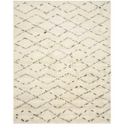 Casablanca White & Brown Area Rug - Wayfair