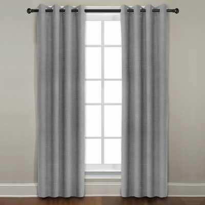 Grand Luxe Grey All Linen Gotham Grommet Window Panel - Overstock