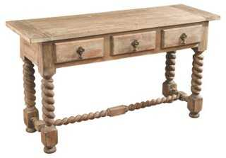 Cole Console, Weathered Natural - One Kings Lane