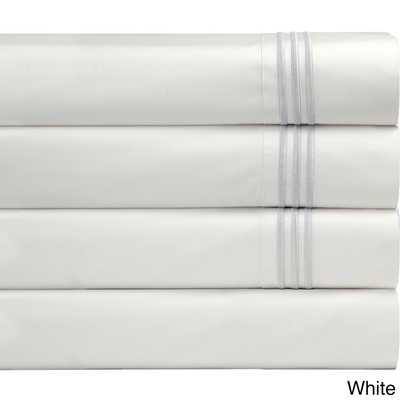 Pointehaven Egyptian Cotton Deep Pocket Embroidered Percale Sheet Set - Overstock