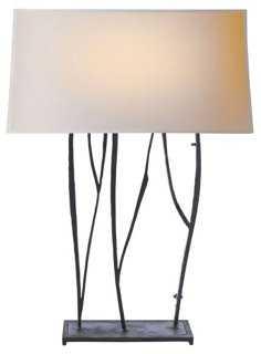 Aspen Console Lamp, Blackened Rust - One Kings Lane