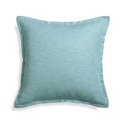 """Linden Ocean 23"""" Pillow with Feather-Down Insert - Crate and Barrel"""