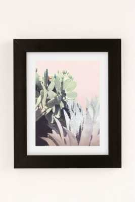 "Wilder California Agave And Prickly Pear Art Print - 18"" x 24"" - Framed - Urban Outfitters"