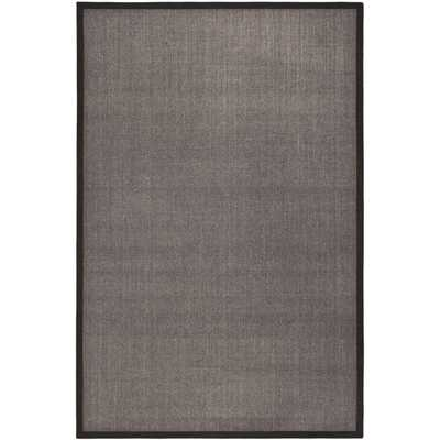 Safavieh Casual Natural Fiber Charcoal and Charcoal Border Sisal Rug (11' x 15') - Overstock