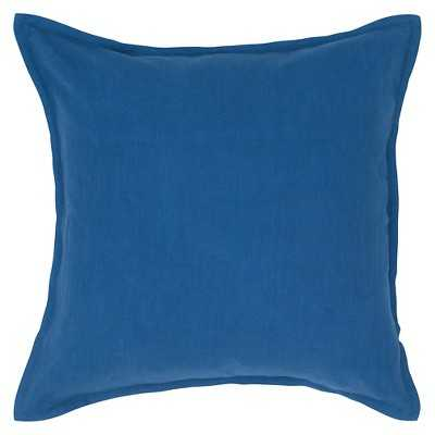 """Rizzy Home Solid Decorative Pillow-20""""Sq, Indigo- Insert included - Target"""