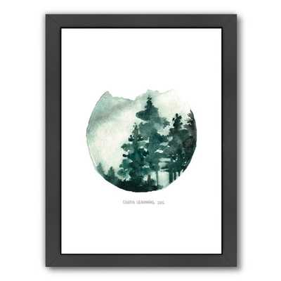 Green Mountain - 16.5x13.5, Framed - AllModern