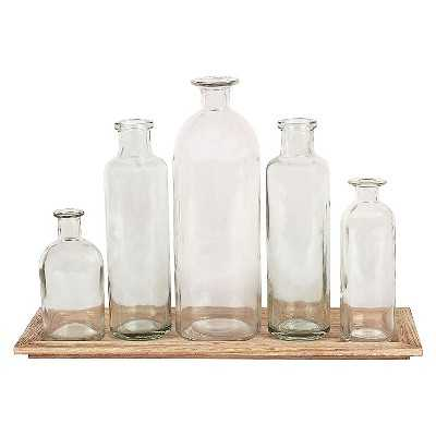Wood Tray with 5 Glass - Target