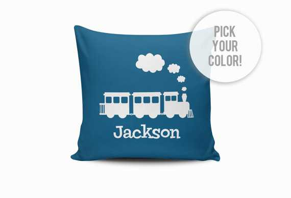 """Nursery Train Throw Pillow Cover - 18x18"""" - Insert sold separately - Etsy"""