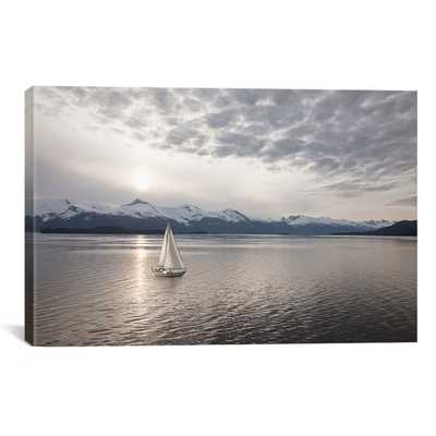 "'Sailing at Sunset, Alaska '09' print - 40"" H x 60"" W - unframed - Wayfair"