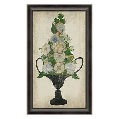 Flower Urn 2 Framed Art - Framed - Layla Grace
