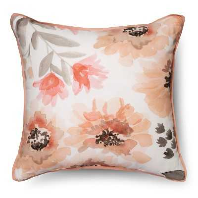 Threshold™ Floral Watercolor Square Pillow Multicolor - Target