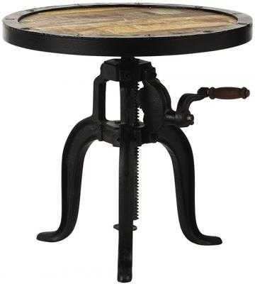INDUSTRIAL ADJUSTABLE-HEIGHT ACCENT TABLE - Home Decorators
