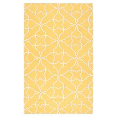 Frontier Sunshine Yellow & White Ikat Area Rug - AllModern