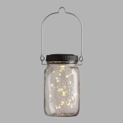 Firefly Solar LED Mason Jar Lantern - World Market/Cost Plus