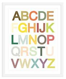 """ModernPOP, Alphabet Print, Mini - 18"""" x 22"""" - Framed - One Kings Lane"""