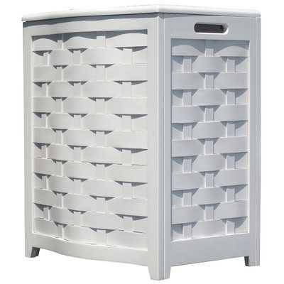 Bowed Front Laundry Hamper - White - Wayfair