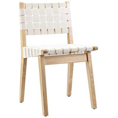Careen Dining Side Chair in White - Domino