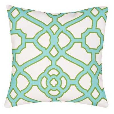 Ecom Outdoor Decorative Pillow Jaipur Green- 18.000L x 18.000W-   Polystyrene Beads insert - Target