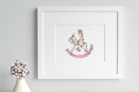 Pink Princess Art 12 x 16, framed - Etsy