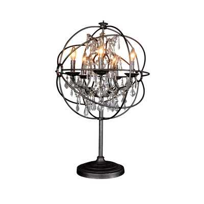 """Adelina 30"""" H Table Lamp with Sphere Shade - Wayfair"""