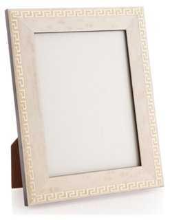 Greek Key Frame, 5x7, White - One Kings Lane
