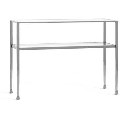 TANNER CONSOLE TABLE - POLISHED NICKEL FINISH - Pottery Barn