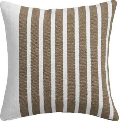 "Division white/natural 20"" pillow with feather insert - CB2"