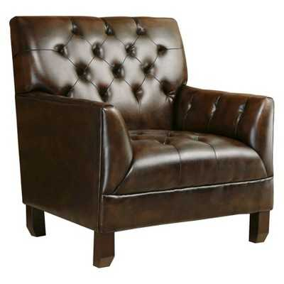 Abbyson Living Emma Leather Armchair - Target