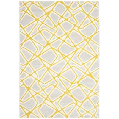 Porcello Light Gray / Yellow Area Rug - Wayfair