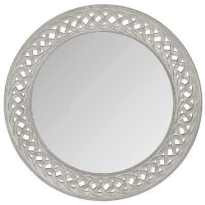 Braided Chain Wall Mirror - Grey - Wayfair