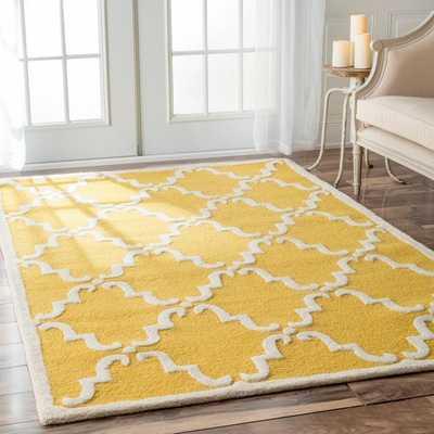 Handmade Luna Marrakesh Trellis Wool Rug - Overstock