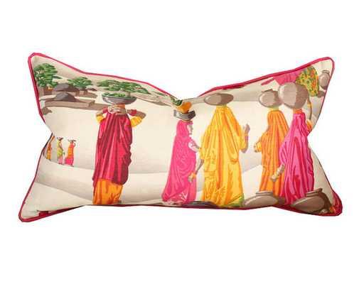 Manuel Canovas Sari Linen Lumbar Pillow Cover - Etsy