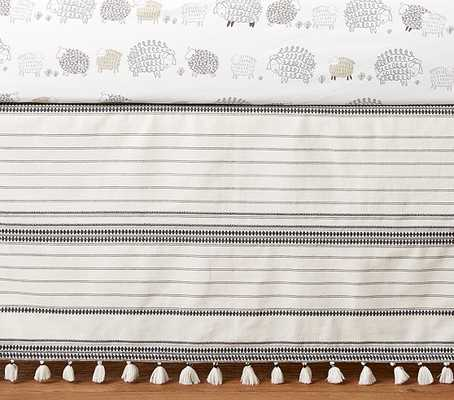 Organic Sleepy Sheep Crib Skirt - Pottery Barn Kids