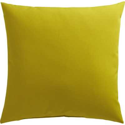"""Chartreuse 20"""" outdoor pillow - poly fill - CB2"""