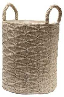 Macramé Ripples Basket - One Kings Lane