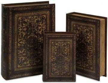 OLD WORLD BOOK BOX COLLECTION - SET OF 3 - Home Decorators