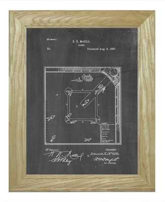 "Framed Patent Print - Game-20""x24""-Black Chalkboard - Etsy"