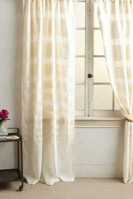 "Ascending Stripes Curtain - 84"" X 50"" - Ivory - Anthropologie"