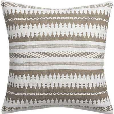 "insignia natural 23"" pillow -Insert - CB2"