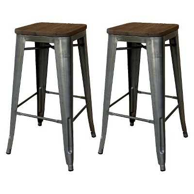 """Hampden Industrial 29"""" Counter Stool with Wood Top - Thresholdâ""""¢ - Target"""