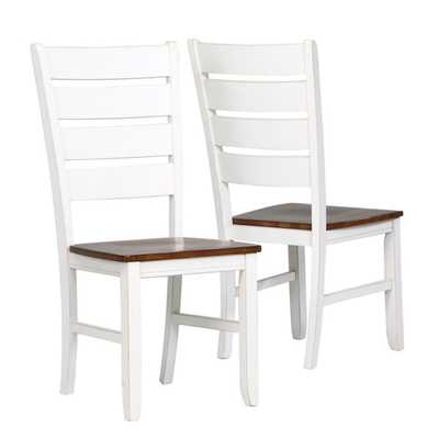 White Ladder Back 40-inch Side Chairs (Set of 2) - Overstock