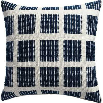 """Quad 20"""" blue and white pillow-  Feather insert - CB2"""