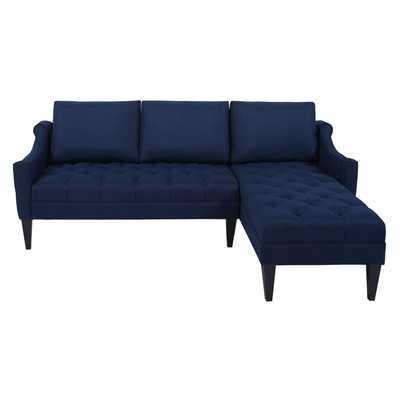 "Riley 88"" Tufted Right-Facing Sectional Sofa - Wayfair"