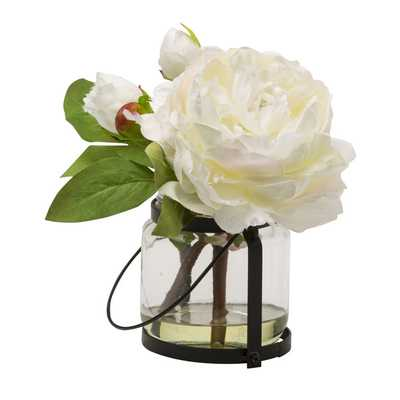 Blossom 8.5 In. Peony Cutting in Vase - Wayfair