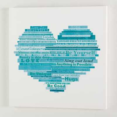 Graphic Quotes Wall Art - White/Pool - Pottery Barn Teen