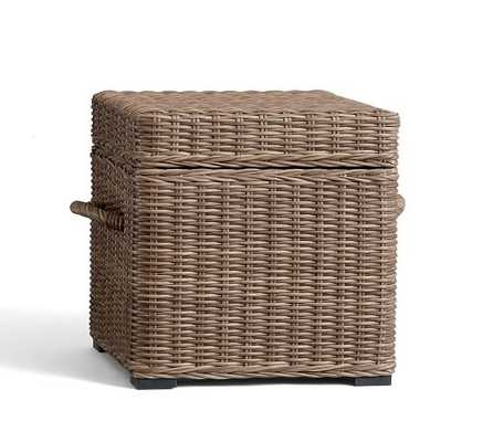 Torrey All-Weather Wicker Cube - Natural - Pottery Barn