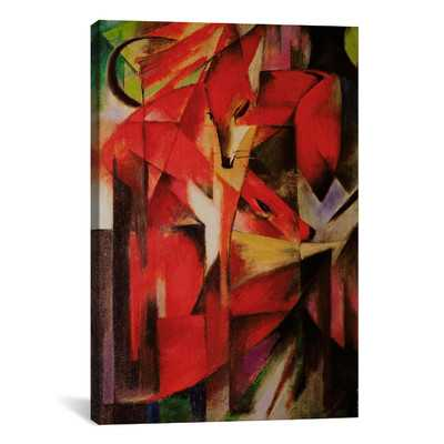 'The Fox' by Franz Marc Painting Print on Canvasby iCanvas - Wayfair