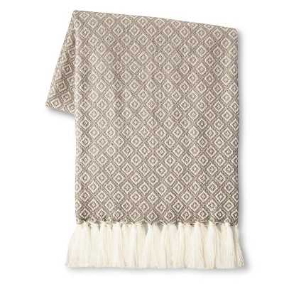 Metallic Geo Sweater Knit Throw - Target