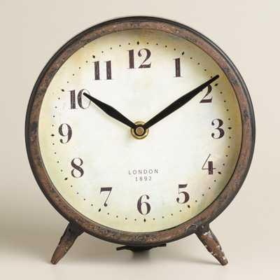 Small Black Charlie Clock - World Market/Cost Plus